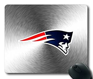 Grey Metallic New England Patriots Rectangle Mouse Pad by eeMuse