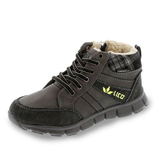 Lico Roger - zapatillas deportivas altas de material sintético niños gris/verde lima