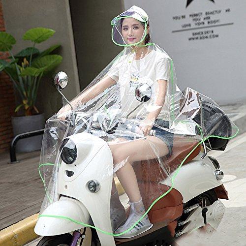 Xl Double Size Wei Avec Transparent Femmes color Disponibles Véhicule Électrique Et Vélo Poncho Mode Shop Blue Adulte Imperméable Chapeau Green Hommes Moto Meng 1qwgw