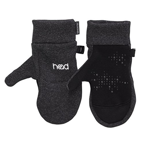 HEAD Kids Touchscreen Mittens - Dark Heather Gray (SMALL)