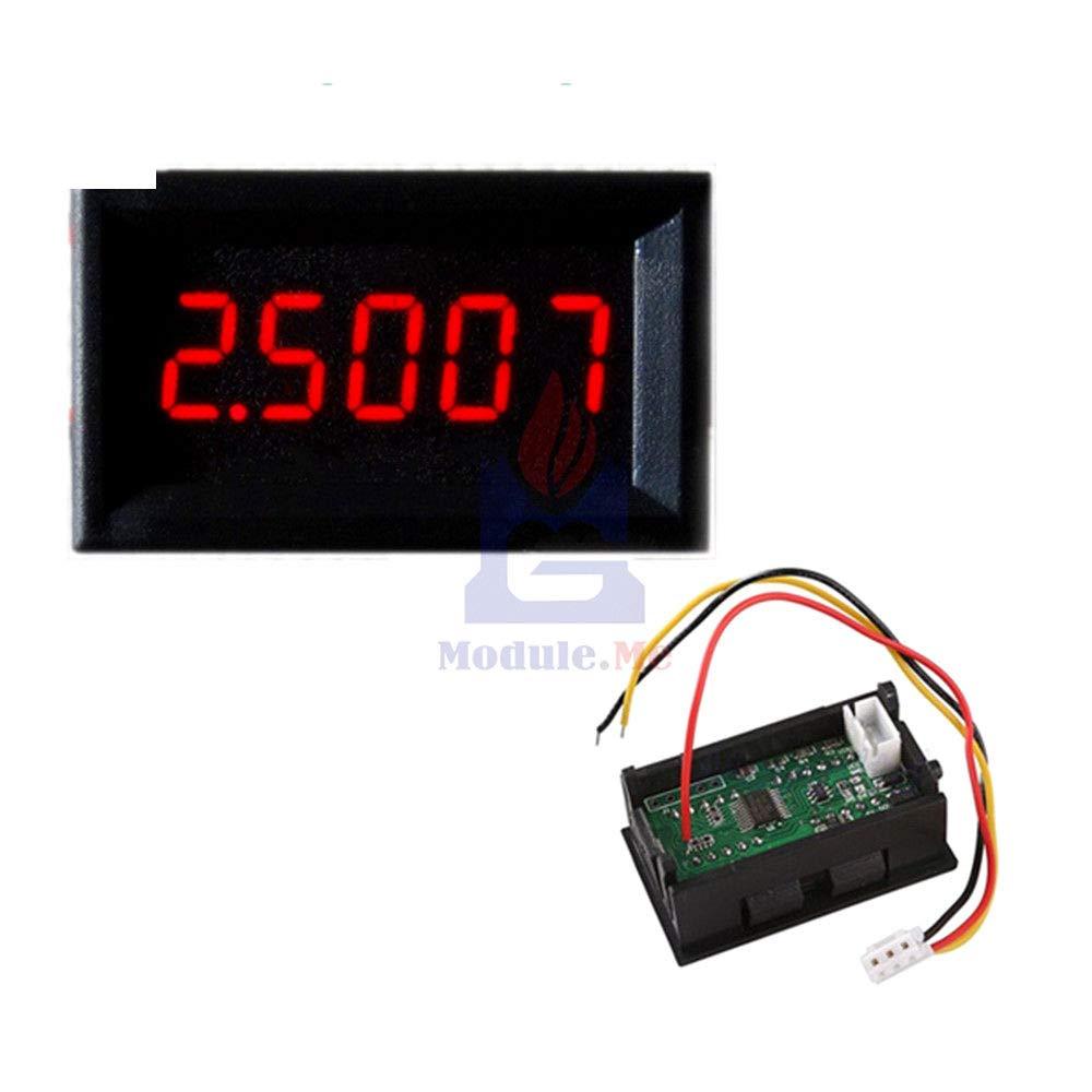 RED Taidacent High Precision 5 Digit Amp Meter DC 0.0000-3.0000A Ammeter Digital Display mA Digital Ammeter