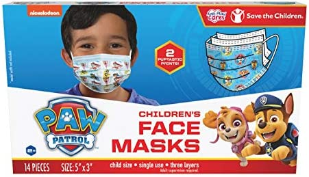 Paw Patrol Children's Single Use Face Mask, 14 Count, Small, Ages 2-7, 2 Assorted Designs, Multi (27301) 4