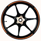 ORANGE Wheel Rim Tape SPEED TAPERED Stripe fit ALL Makes of Motorcycles, Cars, Trucks