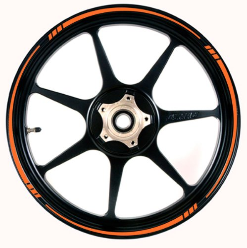 ORANGE Wheel Rim Tape SPEED TAPERED Stripe fit ALL Makes of Motorcycles, Cars, Trucks by Vehicleartz