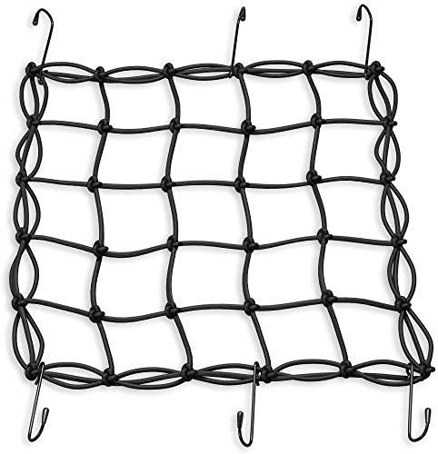 AXEMAX Bungee Cords 32 items Assortment of Tarp Clips, Canopy Ties, Ball Bungie Straps and Cargo Net With Heavy Duty Plastic Coated Metal Hooks -10,18,24,32,40 inches