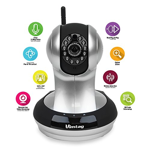 Vimtag (Fujikam) 361 HD IPNetwork Wireless Video Monitoring Surveillance security cameraplugplay PanTilt with Two-Way Audio and Night Vision
