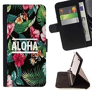 King Case - FOR Samsung Galaxy S6 - because of who I am - Prima caja de la PU billetera de cuero con ranuras para tarjetas, efectivo Compartimiento desmontable y correa para la mu?eca