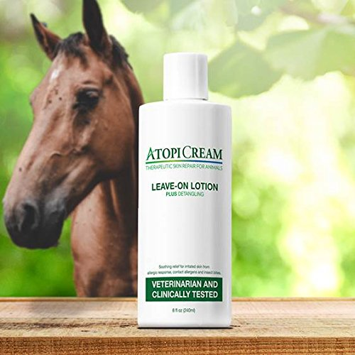 AtopiCream Leave-On Lotion for Pets - Relief of Itching, Skin Irritation and Rashes due to Allergic Response Plus Detangles 8oz by VetriMAX (Image #6)