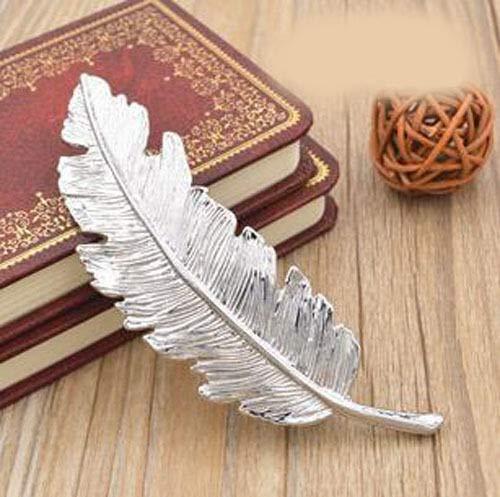 Elegant Women Metal Leaf Feather Hair Clip Hairpin