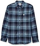 Carhartt Men's Rugged Flex Hamilton Plaid Flannel Shirt (Regular and Big & Tall Sizes), Navy, Medium