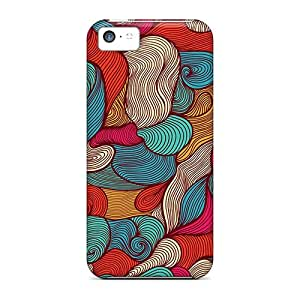 Premium [xwu8122THKy]abstract Fabric Cases For Iphone 5c- Eco-friendly Packaging