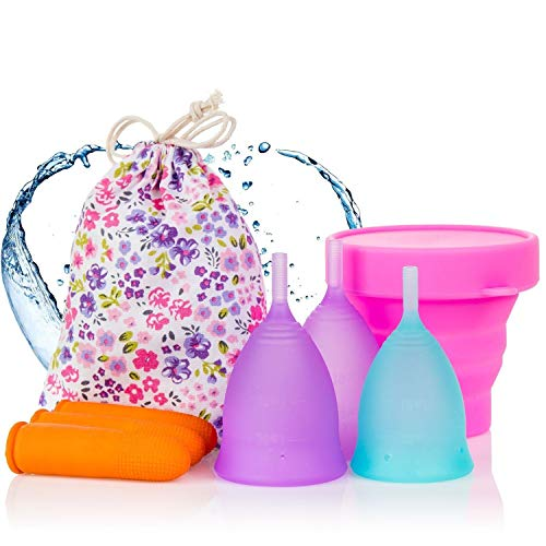 Melyth Menstrual Cups 3x - (2x Large & 1x Small) - Free Foldable Cup - Find...