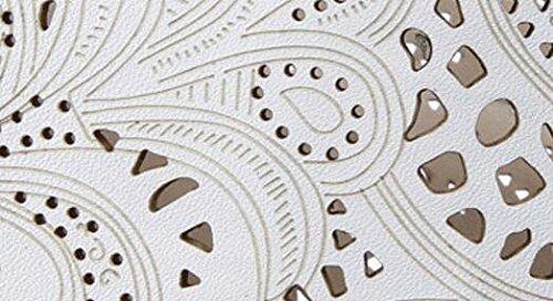 Laruise Women's Leather Fashion Boot White 8Jqhc4l