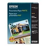 Epson S041069L Matte Presentation Paper, 27 lbs., Matte, 13 x 19, 100 Sheets Per Pack