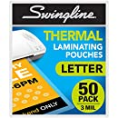 Swingline Thermal Laminating Sheets/Pouches, Letter Size Pouch, Standard Thickness, 50 Pack (3202017)