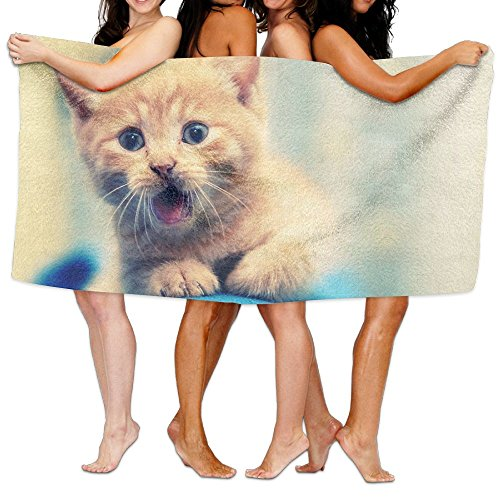 (Unisex Cat Beach Towels Washcloths Bath Towels For Teen Girls Adults Travel Towel Pool And Gym Use 31x51 Inches)