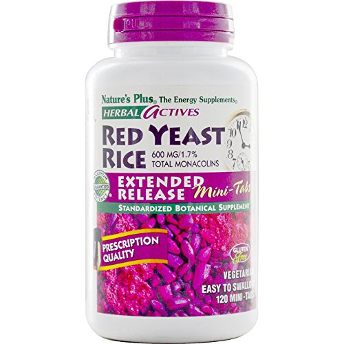 Nature's Plus - Herbal Actives Red Yeast Rice 600 mg Extended Release Mini-Tabs, 120 Count - Pack of 2 by Nature's Plus