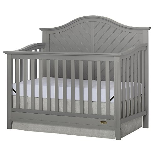 Dream On Me Ella 5-in-1 Full Size Convertible Crib, Storm Grey