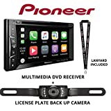 """Product review for Pioneer AVH-1330NEX 6.2"""" DVD Receiver HD Radio Apple CarPlay Built in Bluetooth with License Plate Style Backup Camera and a FREE SOTS Lanyard"""