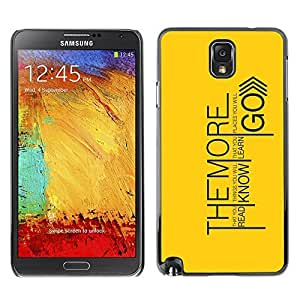 GagaDesign Phone Accessories: Hard Case Cover for Samsung Galaxy Note 3 - Read Know Learn Go