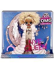 LOL Surprise Holiday OMG 2021 Collector Modedocka – NYE Queen – med gyllene outfits, tillbehör och upplyst stativ – nyårsafton look – fantastisk present till pojkar och flickor från 4 år