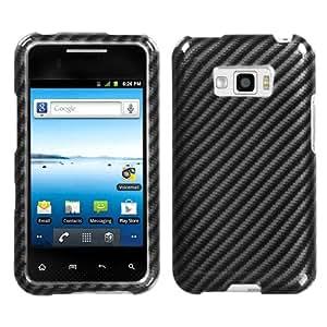 MYBAT Racing Fiber (2D Silver) Phone Protector Cover for LG LS696 (Optimus Elite) LG VM696 (Optimus Elite)