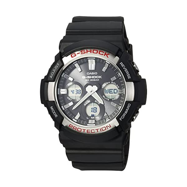 Casio Men's 'G Shock' Quartz Resin Casual Watch, Color:Black (Model: GAS-100-1ACR) 2