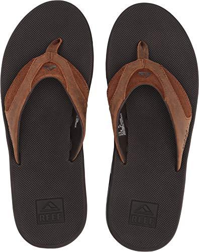 Reef Men's Leather Fanning Sandal, Bronze, 8 Medium US