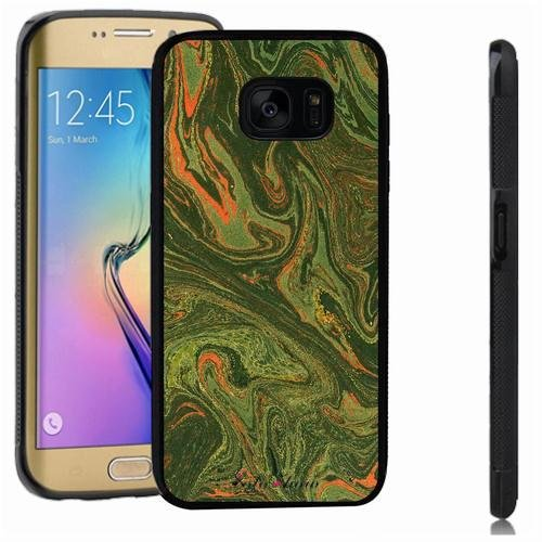 Galaxy S7 edge case, SoloShow(R) Slim Shockproof TPU Soft Case Rubber Silicone for Samsung Galaxy S7 edge [green 2] -