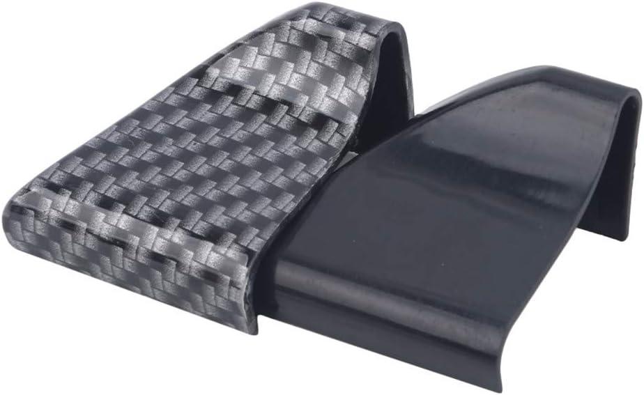 Weryffe 1.5M 5D Carbon Fiber Car Rear Roof Trunk Spoiler Wing Lip Sticker Soft Rubber Rear Trunk Lid Spoiler for Cars Trucks SUV,Bright