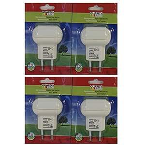 Esto24 - Juego de enchufes antimosquitos, 0,5 W, eléctricos, protección antiinsectos, 4 unidades
