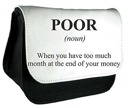 Bolsa de embrague o estuche con diseño de mala definición, alternativa divertida no en el diccionario, color negro talla única: Amazon.es: Oficina y papelería