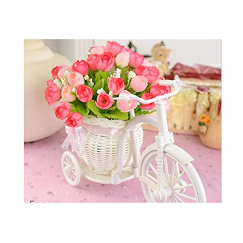 [Soledi White Tricycle Bike Design Flower Basket Storage Container For Flower Plant Home Party Weddding Decoration DIY Random Color] (18 Month Frog Costume)
