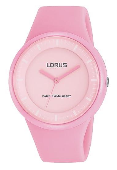 Lorus Reloj Analogico para Mujer de Cuarzo con Correa en Silicona RRX25FX9: Amazon.es: Relojes
