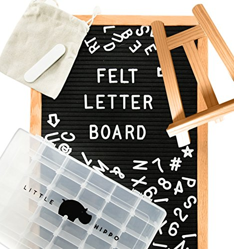 Letter Board 12x18 | +690 PRECUT Letters +Stand +Sorting Tray | (Black) Letter Board with Letters, Letters Board,...