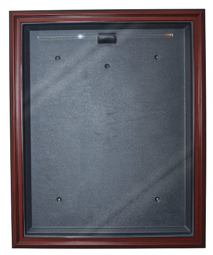 Basketball Cabinet Style Jersey Display with Museum Quality UV Upgrade (Mahogany) by Caseworks
