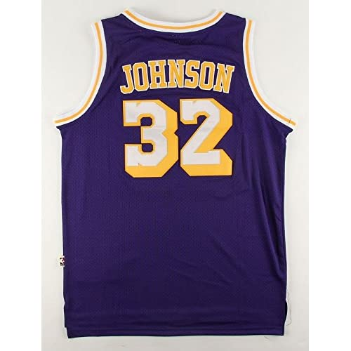 225943277 Magic Johnson Autographed Lakers Jersey PSA DNA Certified Official Adidas  Hardwood Classic Jersey
