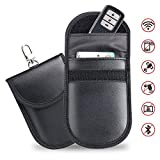 Car Key Signal Blocker Pouch, 2 Pack Car Keyless Entry Fob Signal Blocking Case Credit Card Protector Bag RFID/WiFi/ GSM/LTE/ NFC Blocker