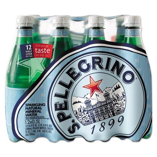 San Pellegrino Sparkling Natural Mineral Water, 16.9 Ounce Bottles (Pack of 12) ()
