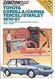 CH7036 Chilton Toyota Corolla Carina Tercel Starlet 1970-1987 Repair Manual