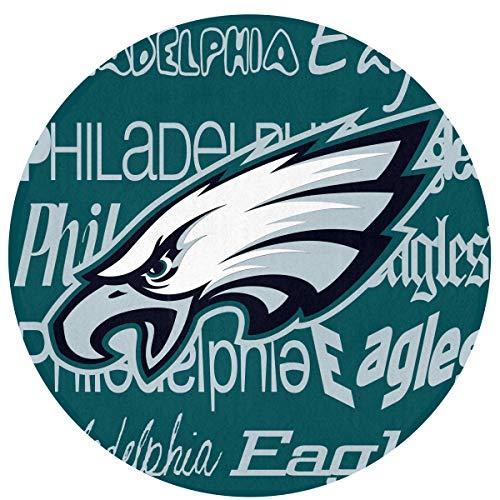 Weckim Philadelphia Eagles Non-Skid Lock Water Quick-Drying Door Mat Floor Mat, Fadeless, Circular Mat Diameter 23.62