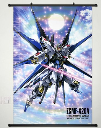 Wall Scroll Poster Fabric Painting For Anime Gundam Seed Strike Freedom Gundam 045 L