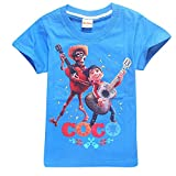 Toddler T-Shirts Coco Miguel Hector Guitar Pattern Shirt Short Sleeve Cotton Graphic Tee
