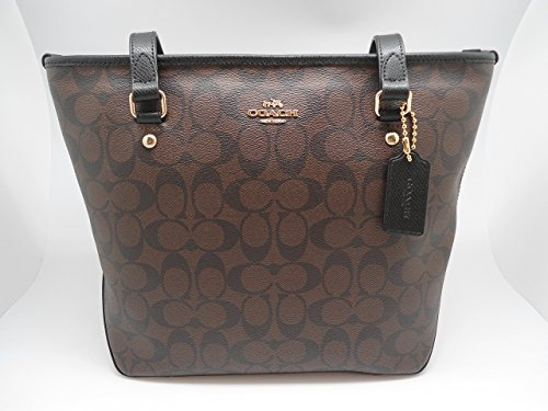 Coach Signature Zip Top Tote  F34603