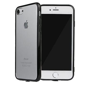 b243e71c84 SZMM iPhone7対応 保護カバー ハード アクリル ケース 透明 iPhone7プロテクター カバー iPhone7アクセサリ ブラック