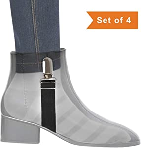 Boncas Improved Adjustable Elastic Boot Clips Boot Straps Pant Clips Stirrups Leg Straps Keeping Your Pants Tucked