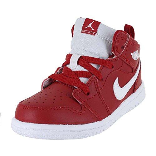 Jordan Toddler Jordan 1 MID (TD) Gym RED White White Size 7 by NIKE
