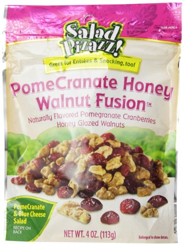 Salad Pizazz Salad Toppings, PomeCranate Honey Walnut Fusion, 4-Ounce (Pack of 6)