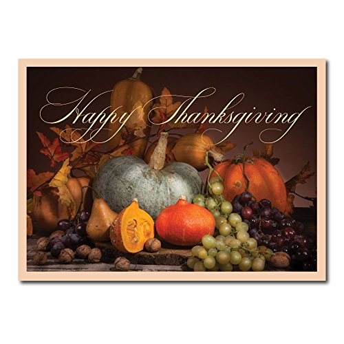 Thanksgiving Greeting Card TH1607. The picturesque cover leads to an inside verse of the