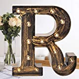 Oycbuzo Golden Black Led Marquee Letter